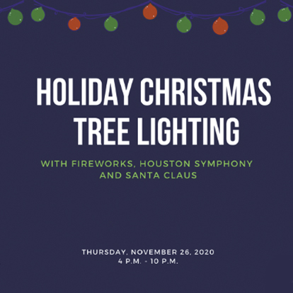 Holiday Tree Lighting at the Hilton Hotel Post Oak