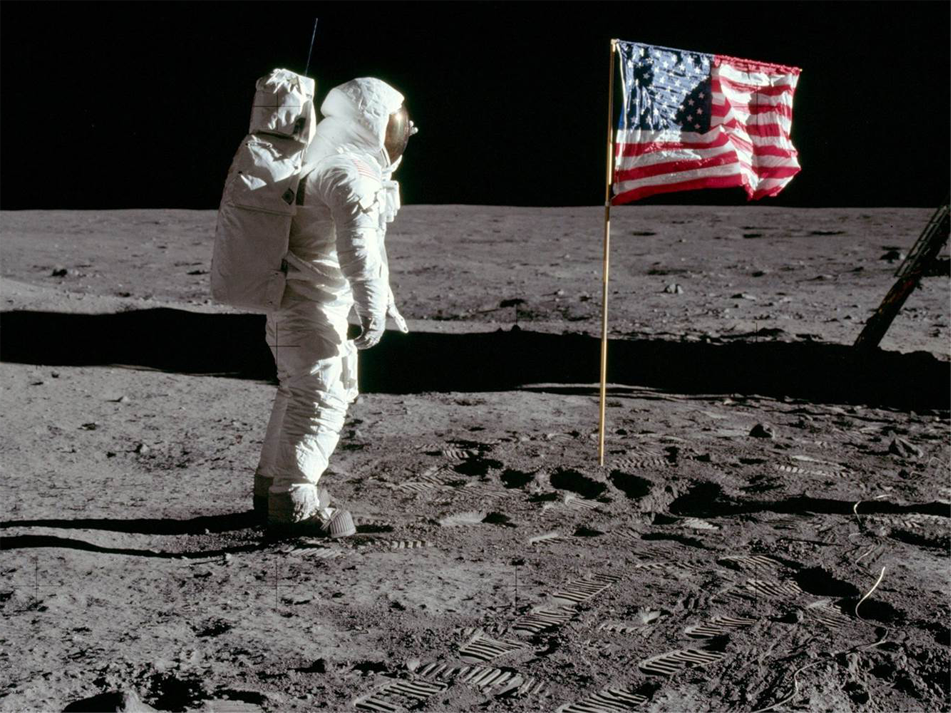 Neil Armstrong Stands Next to the American Flag on the Moon 50 Years Ago